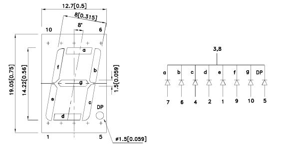 7 сегментный индикатор схема