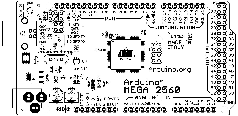 Arduino Mega 2560: распиновка, схема подключения и