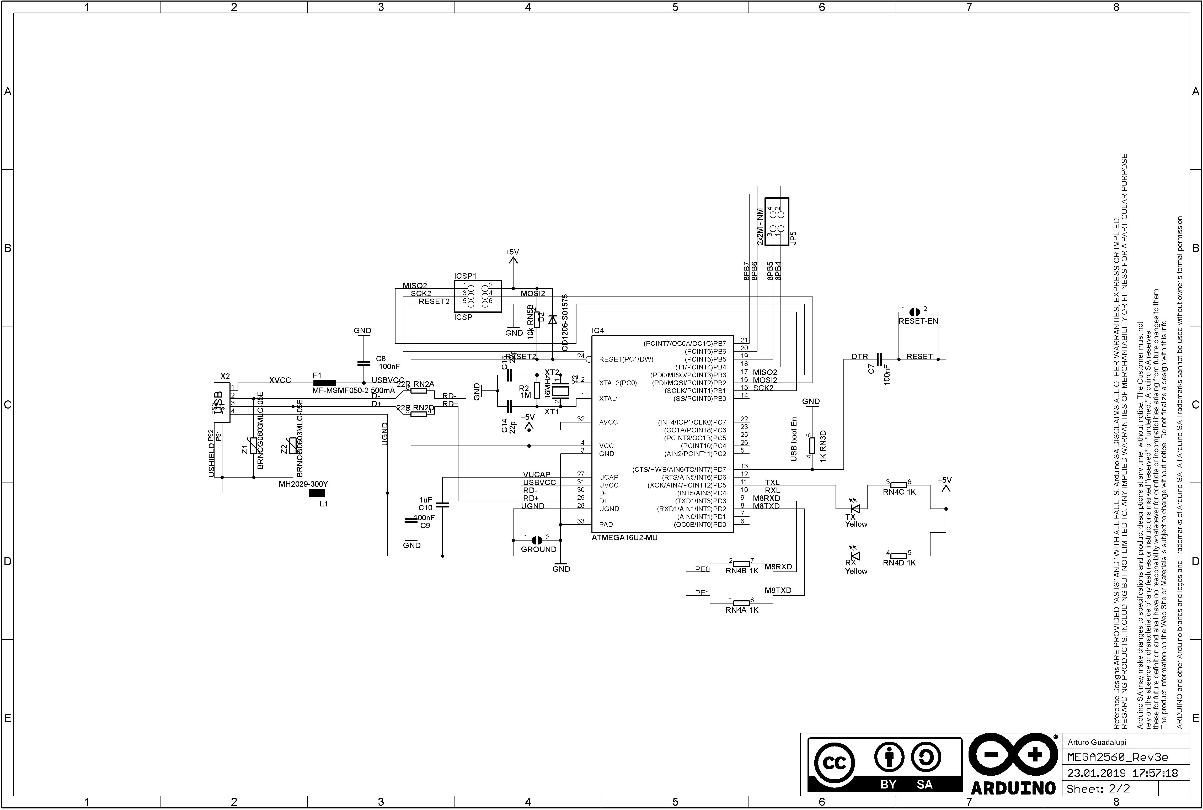 Arduino mega 2560 schematic download