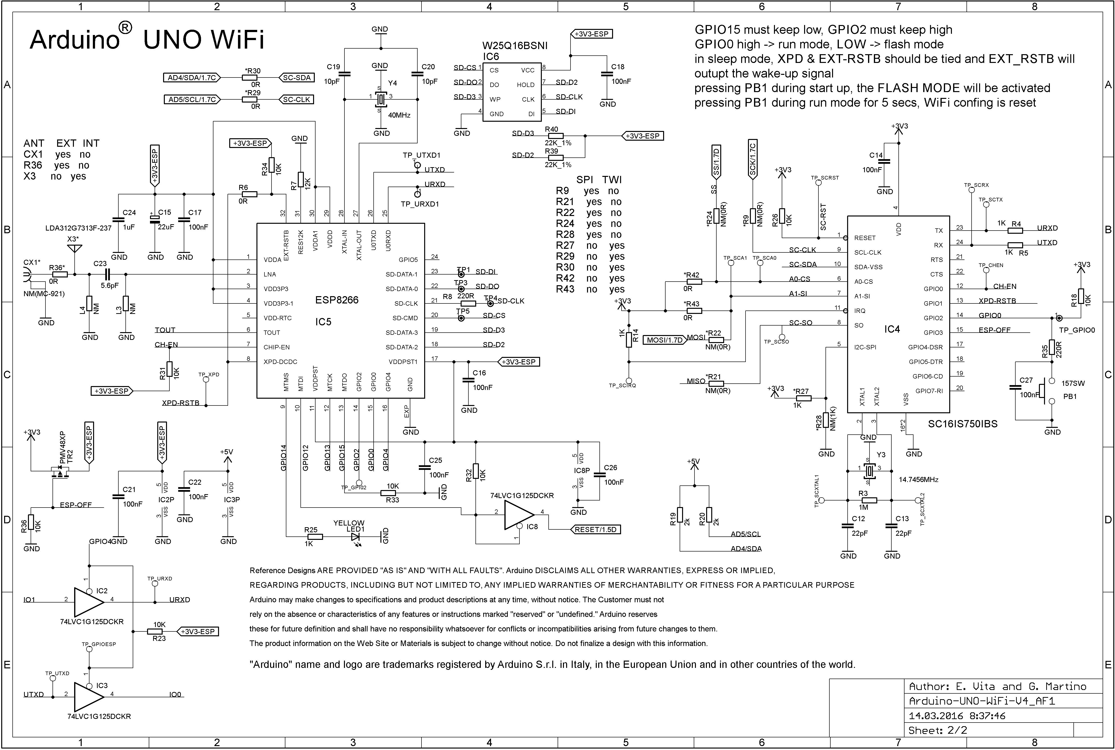 Arduino Uno Wifi Schematic