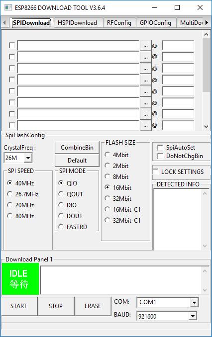 Прошивка ESP8266 через Flash DownLoad Tool [Амперка / Вики]