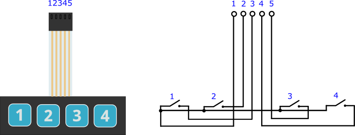 Четырёхкнопочная клавиатура [Амперка / Вики]