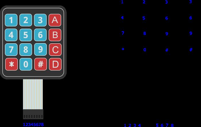 матричная клавиатура 4х4 arduino код упровления
